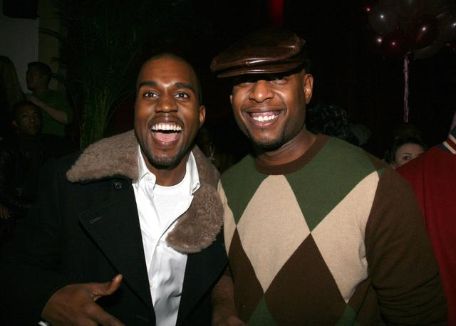 Kanye West and Talib Kweli during John Legend's 28th Birthday Party at Stereo in New York City at Stereo in New York City, New York, United States.