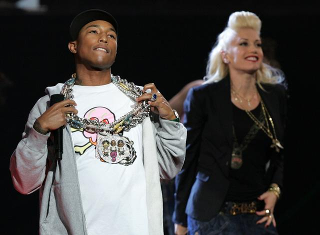 Pharrell with his NERD chain
