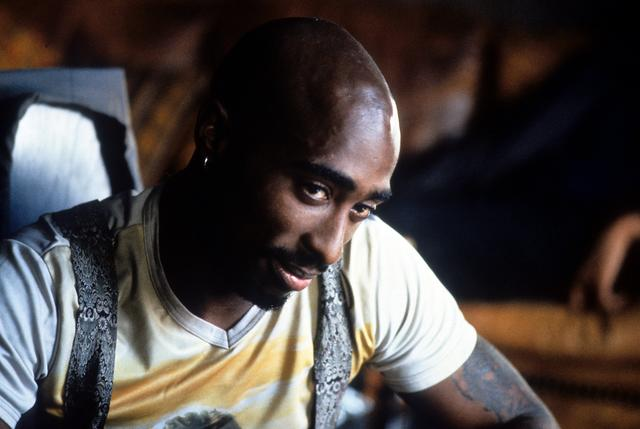 Tupac on set of GridLock'd movie 1997