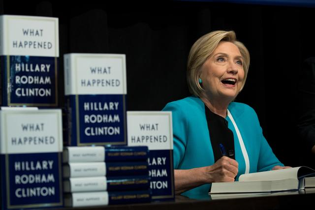 Hilary Clinton at her book signing