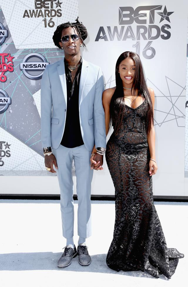 Jerrika Karlae and Young Thug at the BET Awards