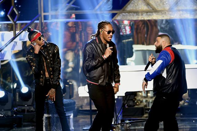 Future, DJ Khaled at 2016 AMAs