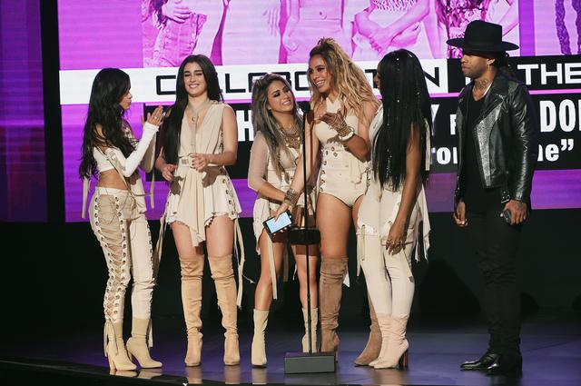 Ty at AMA's with Fifth Harmony