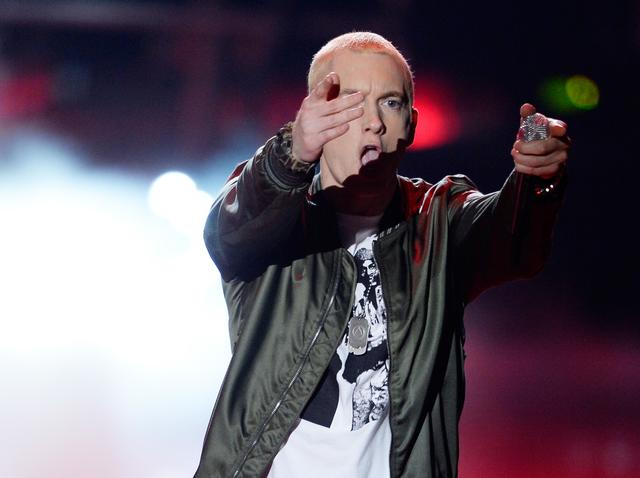 Eminem performing in 2014