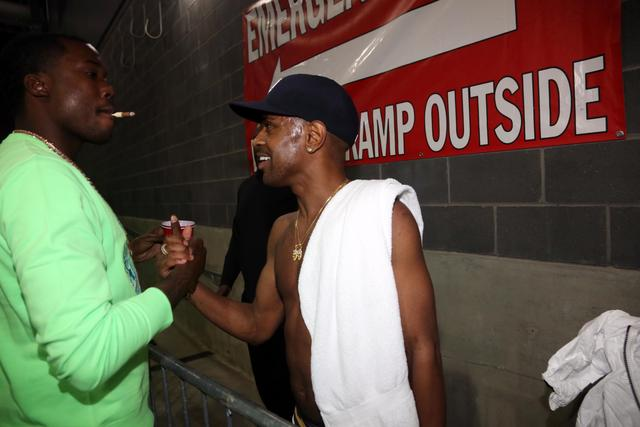 Big Sean and Meek Mill shake hands