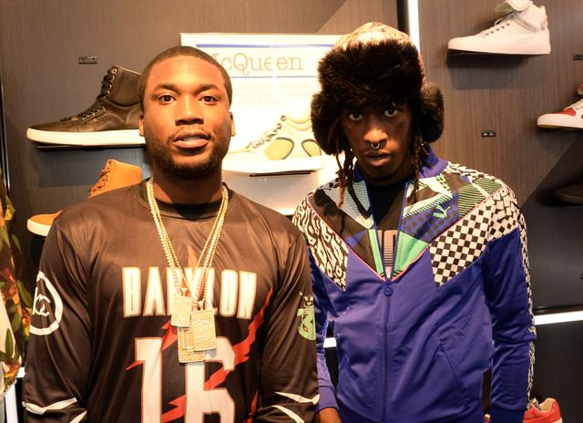 Meek Mill and Young Thug at Dekalb Mall