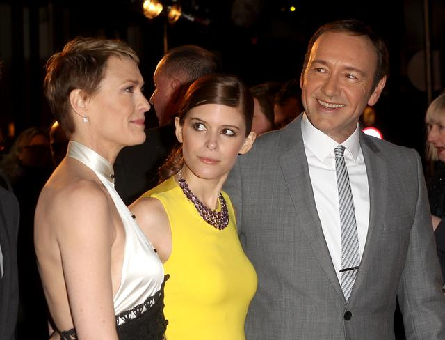 Kevin Spacey, Robin Wright and Kate Mara of House of Cards