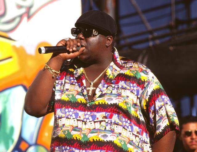 Notorious BIG performing 1990s
