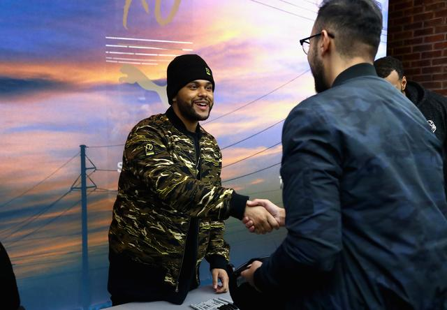 The Weeknd at fan meet & greet