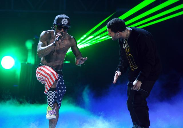 Drake and Lil Wayne at BET Awards 2011
