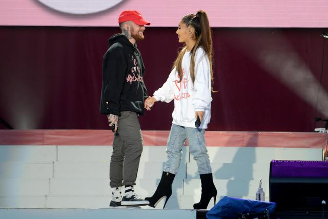 Mac Miller and Ariana Grande at One Love Manchester Benefit