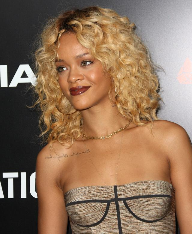 Rihanna at Pre-Grammy brunch 2012