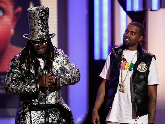 Kanye West and T-Pain at the BET Awards 2008