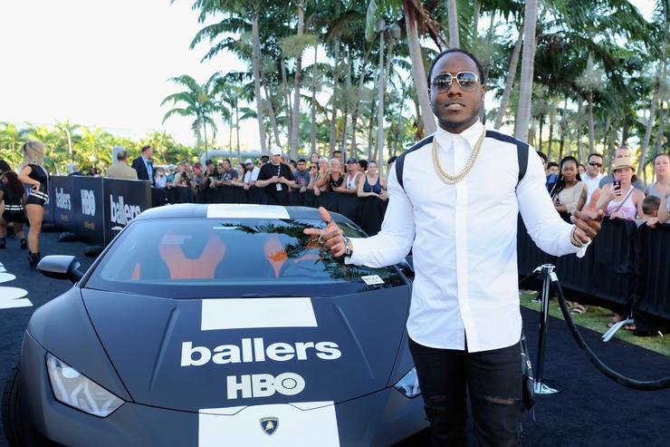 Rapper Ace Hood attends the HBO Ballers Season 2 Red Carpet Premiere and Reception on July 14, 2016 at New World Symphony in Miami Beach, Florida.