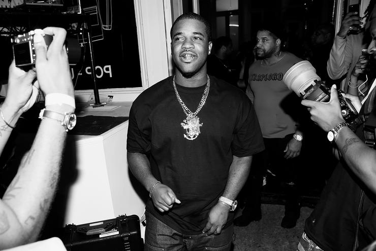 A$AP Ferg attends Pop-Up Shop launch for clothing brand UNIFORM on August 18, 2017 in New York City.