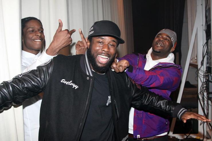 (L-R) A$AP Rocky, A$AP Twelvyy, and A$AP Ferg backstage at the BET '106 & Party' New Years Eve celebration on December 31, 2012, in New York City.