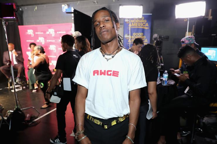 A$AP Rocky backstage at the 2017 BET Awards at Microsoft Theater on June 25, 2017 in Los Angeles, California.