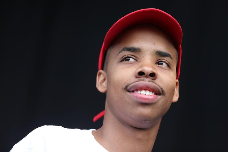Earl Sweatshirt performs live on stage during the Laneway Festival on January 27, 2014 in Auckland, New Zealand.