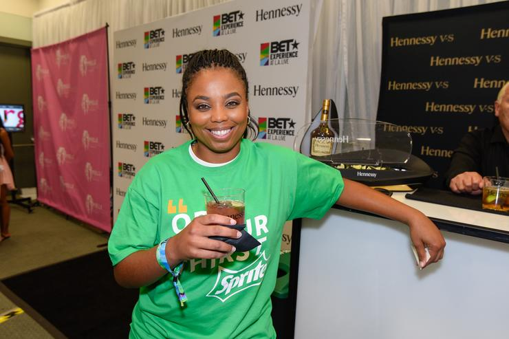 Jemele Hill attends the official BET Experience gifting suite sponsored by Hennessy at Los Angeles Convention Center on June 27, 2015 in Los Angeles, California.