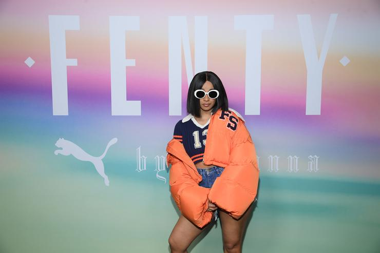Rapper Cardi B attends the FENTY PUMA by Rihanna Spring/Summer 2018 Collection at Park Avenue Armory on September 10, 2017 in New York City.