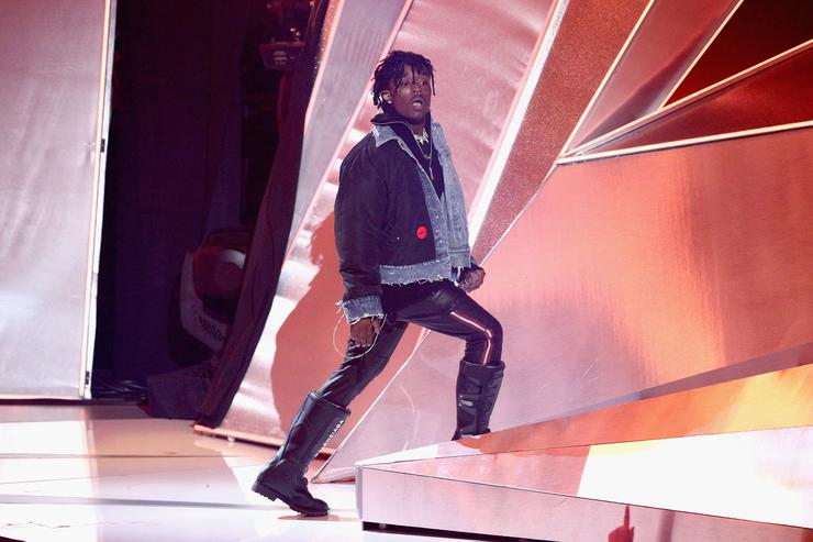 Lil Uzi Vert performs onstage during the 2017 MTV Video Music Awards at The Forum on August 27, 2017 in Inglewood, California.