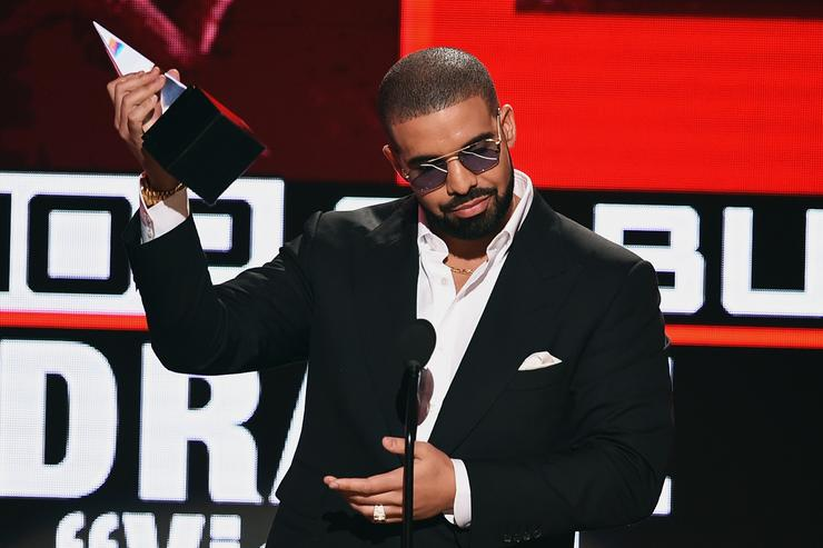 Rapper Drake accepts Favorite Rap/Hip-Hop Album for 'Views' onstage during the 2016 American Music Awards at Microsoft Theater on November 20, 2016 in Los Angeles, California