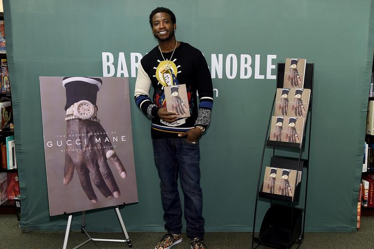 Gucci Mane signs copies of his new book 'The Autobiography Of Gucci Mane'at Barnes & Noble, 5th Avenue on September 19, 2017 in New York City.