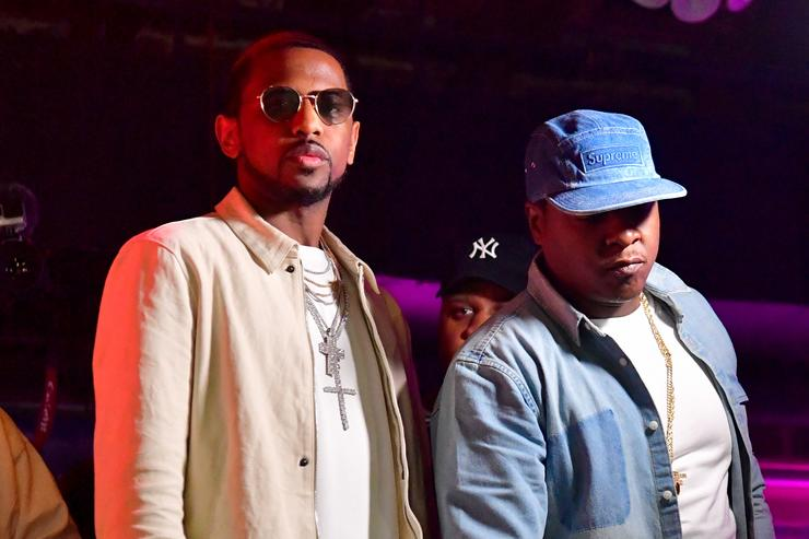 Rapper Fabolous and Jadakiss attend The Rich and Famous All Star Weekend Grand Finale at The Metropolitan on February 20, 2017 in New Orleans, Louisiana.