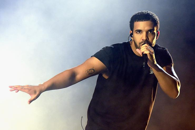 Rapper Drake performs onstage during day 3 of the 2015 Coachella Valley Music & Arts Festival (Weekend 1) at the Empire Polo Club on April 12, 2015 in Indio, California.