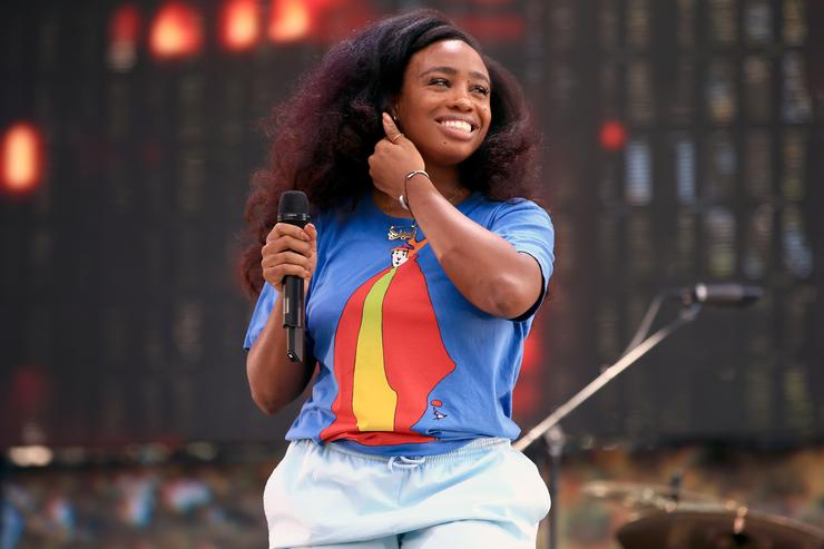 Recording artist SZA performs on the Dylan Stage during day 2 of the 2014 Budweiser Made in America Festival at Los Angeles Grand Park on August 31, 2014 in Los Angeles, California.