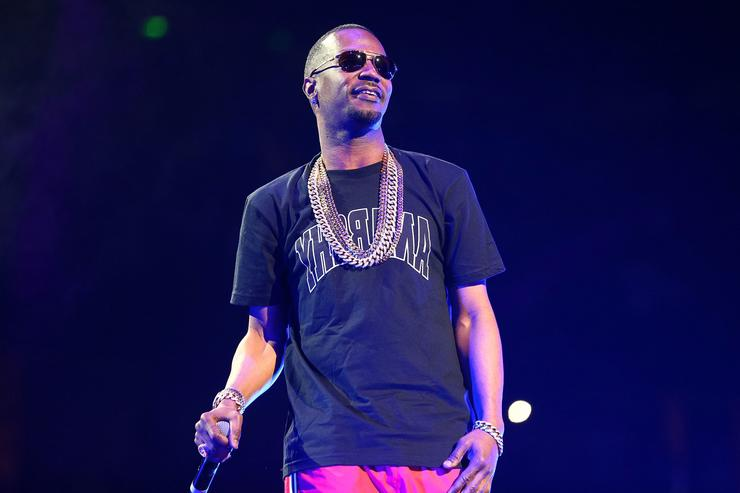 Rapper Juicy J performs onstage at Power 106 FM's Powerhouse at Honda Center on May 17, 2014 in Anaheim, California.