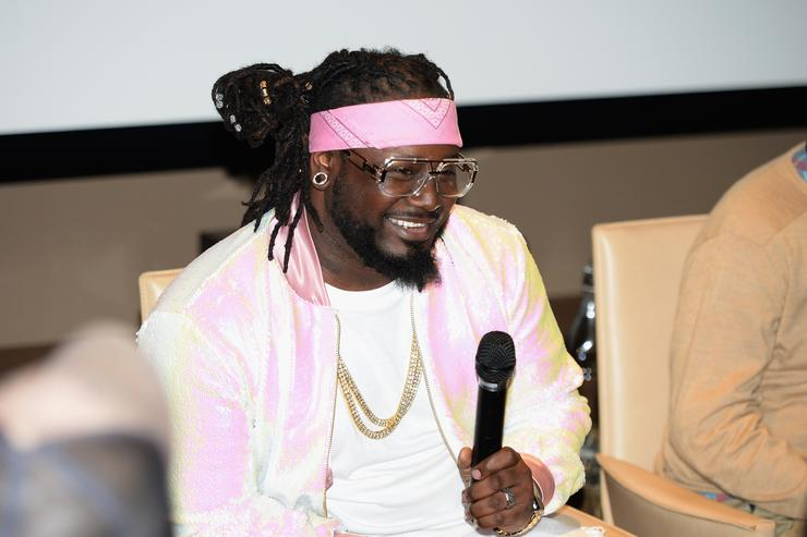 Recording artist T-Pain attends the Spotify/ All Def Digital Traffic Jams Premiere Party at Neuehouse on March 29, 2017 in New York City.