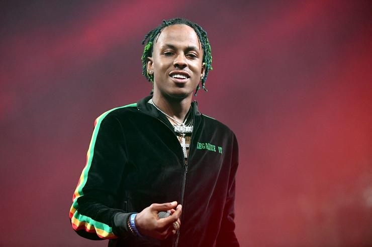 Rapper Rich The Kid performs onstage during day two of the Rolling Loud Festival at NOS Events Center on December 17, 2017 in San Bernardino, California.