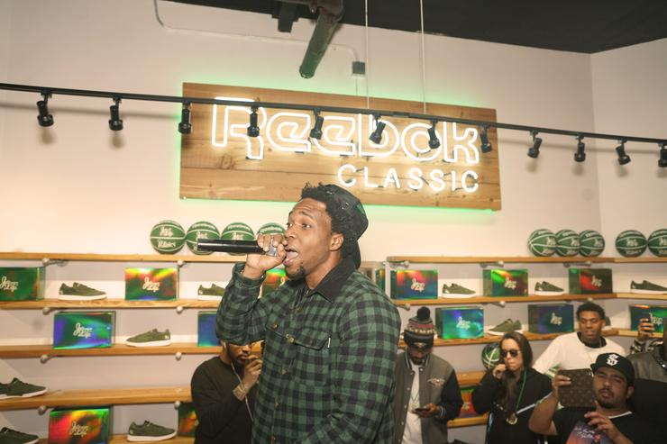 Curren$y performs for Sneaker Politics Launch New Club C Curren$y Sneaker at Sneaker Politics powered by Reebok Classic and Mitchell & Nesson on February 16, 2017 in New Orleans, Louisiana.