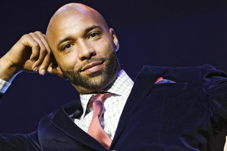Cast member Joe Budden appears at the VH1 'Love & Hip Hop' Season 4 Premiere at Stage 48 on October 28, 2013 in New York City.