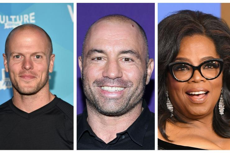 Tim Ferriss, Joe Rogan and Oprah - podcast hosts