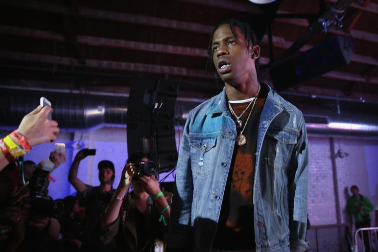 Travi$ Scott preforms at Tumblr IRL Presents Travi$ Scott At SXSW, With Art By Marc Kalman And Corey Damon Black on March 20, 2015 in Austin, Texas.