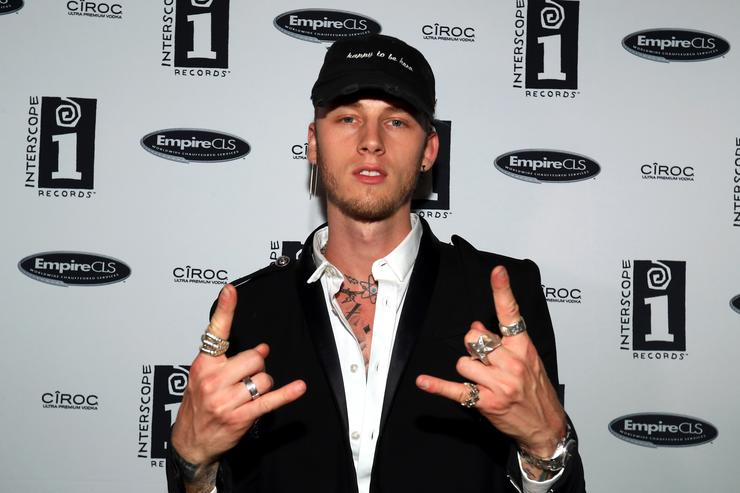Rapper Machine Gun Kelly attends the Interscope BET Party at The Reserve on June 25, 2016 in Los Angeles, California.