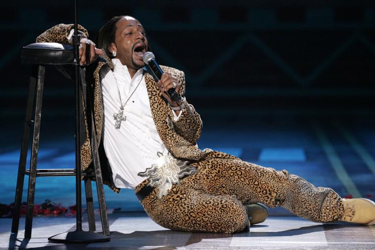 Singer Katt Williams performs onstage at the 2005 BET Comedy Icon Awards at the Pasadena Civic Auditorium on September 25, 2005 in Pasadena, California.