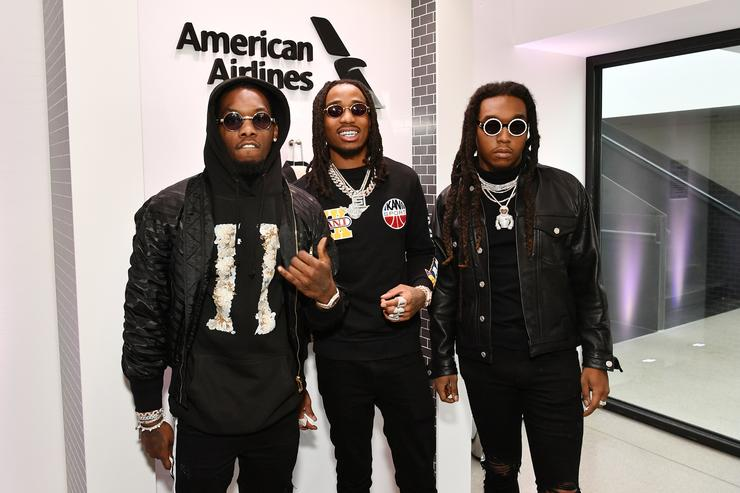 Offset, Takeoff, and Quavo from Migos attends Sir Lucian Grainge's 2018 Artist Showcase presented by Citi with support from Remy Martin on January 27, 2018 in New York City.