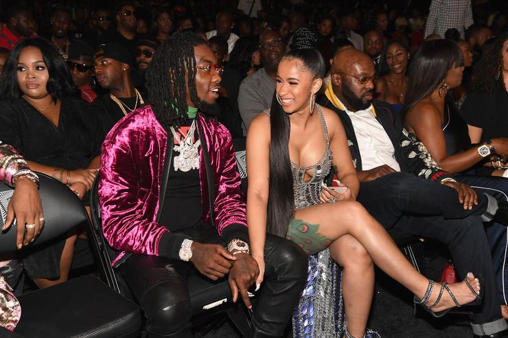 Rappers Offset of Migos and Cardi B attend the BET Hip Hop Awards 2017 at The Fillmore Miami Beach at the Jackie Gleason Theater on October 6, 2017 in Miami Beach, Florida.