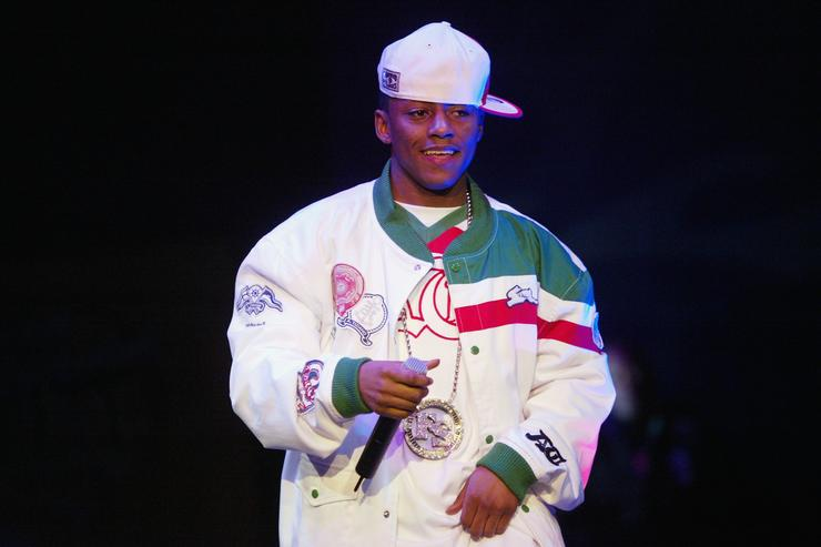 Hip-Hop artist Cassidy (R) performs at Fuse and Hot 97's Full Frontal Hip-Hop fashion showcase at Webster Hall March 2, 2004 in New York City.