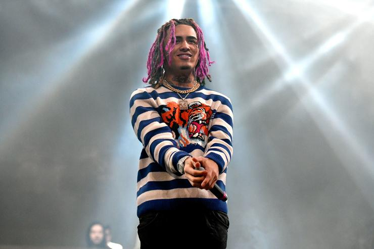 Rapper Lil Pump performs onstage during day two of the Rolling Loud Festival at NOS Events Center on December 17, 2017 in San Bernardino, California.