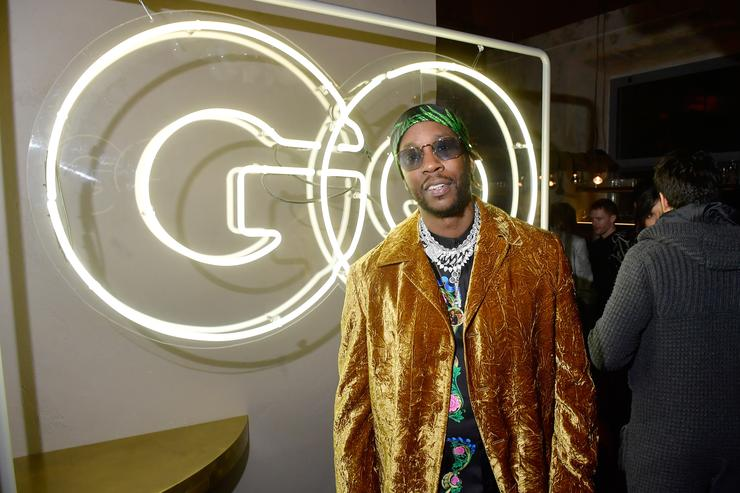 2 Chainz attends the GQ Milan Cocktail Party during Milan Men's Fashion Week Fall/Winter 2018/19 on January 13, 2018 in Milan, Italy