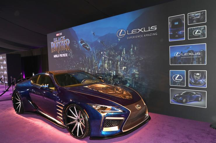 Black Panther Lexus Link Up For Exclusive Lc 500 Model