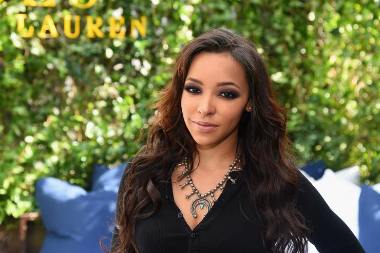 Singer Tinashe attends the Polo Ralph Lauren fashion show during Spring 2016 New York Fashion Week at Gallow Green at the McKittrick Hotel on September 11, 2015 in New York City.