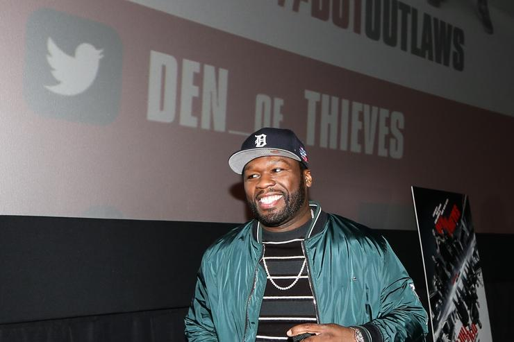 50 Cent at Den of Thieves screening