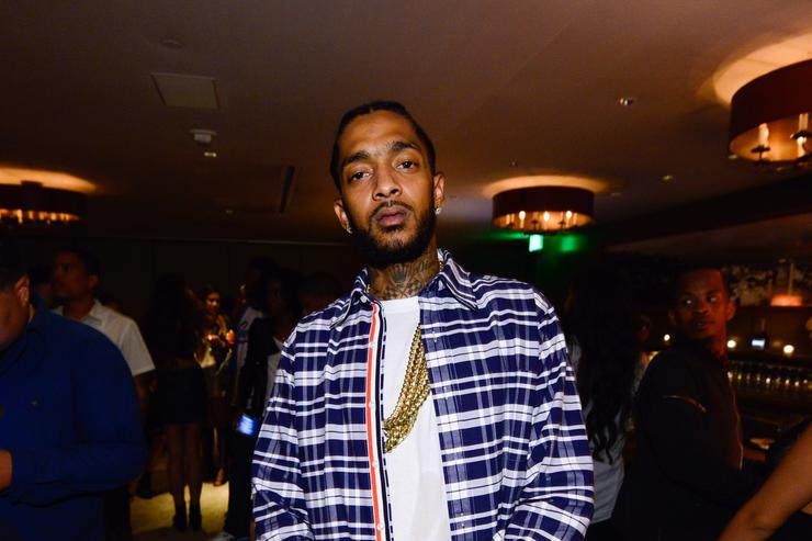 Nipsey Hussle attends the Jhene Aiko Souled Out event sponsored by Hennessy V.S on September 9, 2014 in West Hollywood, California.