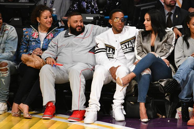 Ludacris and DJ Khaled attend The 67th NBA All-Star Game