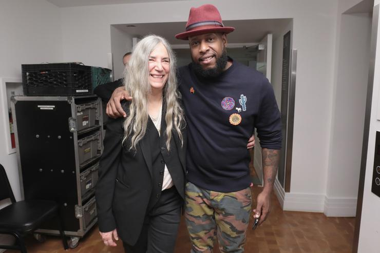 Talib Kweli with Patti Smith
